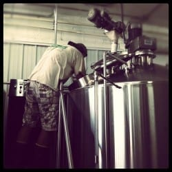 Niles Lewin, making the beer happen!
