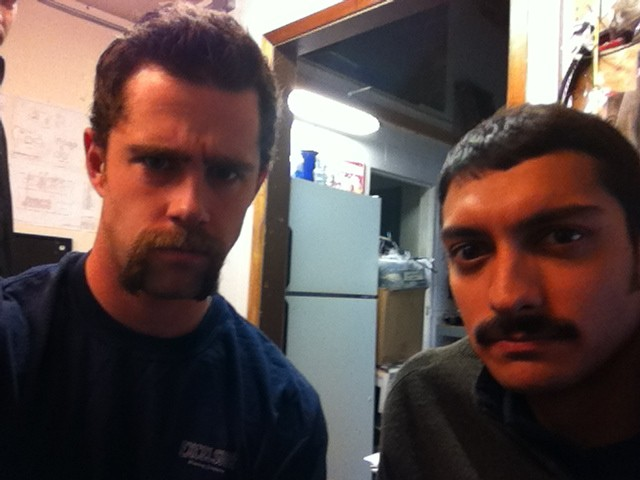Ben and Amar have worked hard on their mustaches...please donate to justify their glorious facial hair!